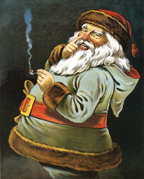 GraphicaArtis「Santa Claus Smoking Pipe」:写真・画像(1)[壁紙.com]