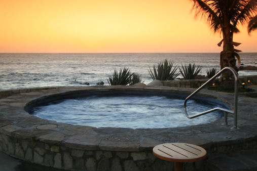 Mexico「Hot Tub at a Luxury Resort in the Tropics」:スマホ壁紙(13)