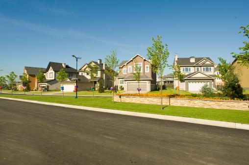 Cityscape「Few suburban houses.」:スマホ壁紙(10)