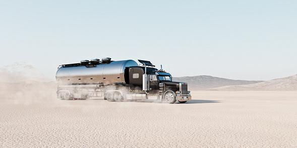 Driving「Truck raising dust as it drives across desert landscape」:スマホ壁紙(6)