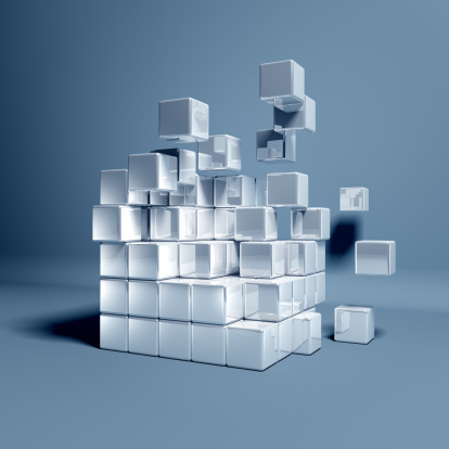 Digital Composite「Cubes」:スマホ壁紙(12)