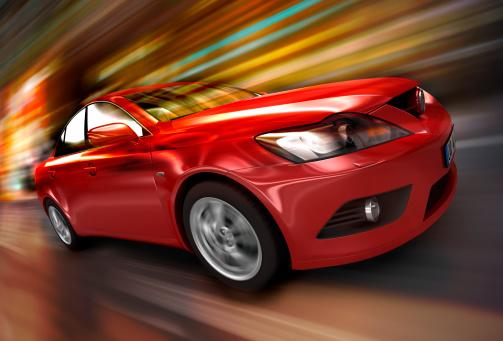 Motorsport「Red car driving fast」:スマホ壁紙(18)