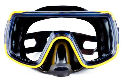 潜水「ブラックのダイビングマスク」:スマホ壁紙(14)