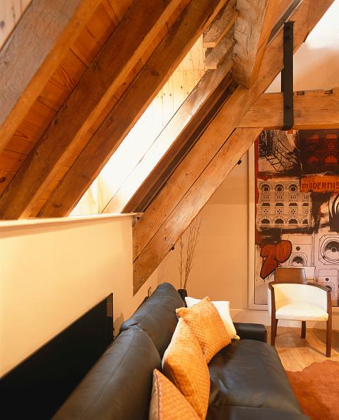 Loft Apartment「Private home, interior of a modern house.」:写真・画像(9)[壁紙.com]