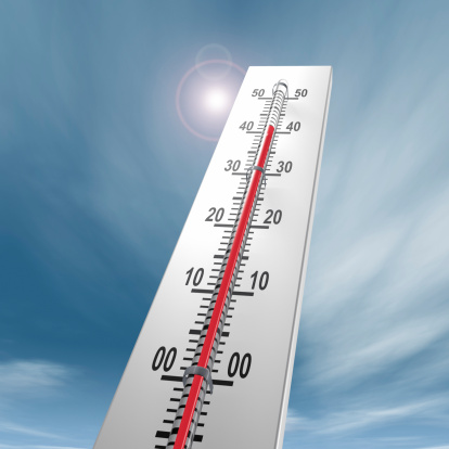 Heidelberg - Germany「Thermometer at 40 degrees Close-up」:スマホ壁紙(9)