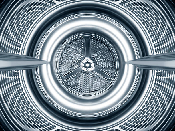 Inside the steel drum of a washing machine:スマホ壁紙(壁紙.com)