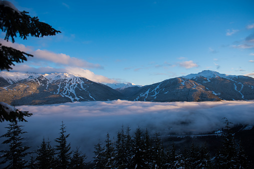 Ski Resort「Whistler Blackcomb Mountains in winter」:スマホ壁紙(5)