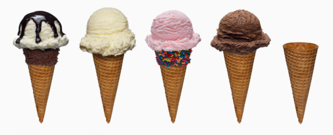 Enjoyment「Ice Cream Cones on white」:スマホ壁紙(3)