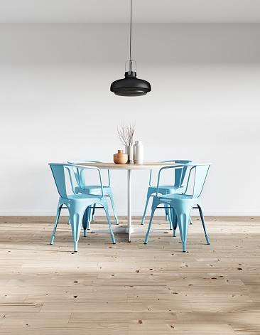 Black Color「Modern minimalist dining room」:スマホ壁紙(4)