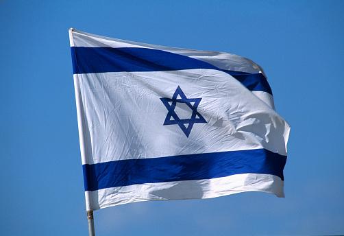 Pole「Israeli Flag on Flagpole」:スマホ壁紙(12)