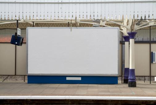 Scotland「Blank british billboard at a railway station」:スマホ壁紙(7)