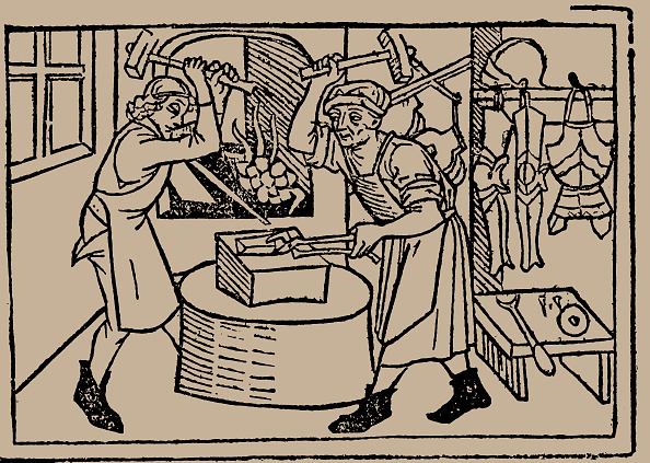 Industry「The Art Of Blacksmithing From Speculum Vitae Humanae By Rodericus Zamorensis」:写真・画像(11)[壁紙.com]