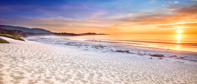 Monterey Peninsula「Carmel Beach panoramic in Carmel-by-the-Sea」:スマホ壁紙(14)