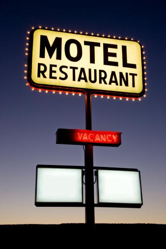 Motel Sign「Motel Restaurant Sign Twilight Nevada USA」:スマホ壁紙(10)