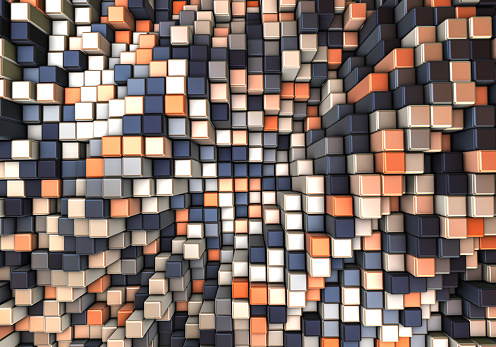 Data Center「Abstract 3d background with different cubes」:スマホ壁紙(0)