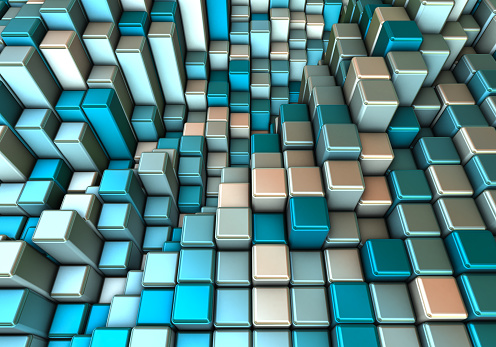 Internet of Things「Abstract 3d background with different cubes」:スマホ壁紙(5)