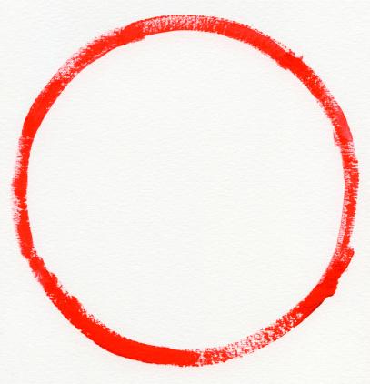 Zero「Red zero on Watercolor paper」:スマホ壁紙(14)