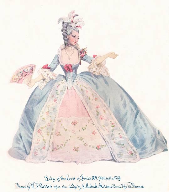 'Lady of the Court of Louis XV', 19th century. Artist: Edmund Thomas Parris.:ニュース(壁紙.com)