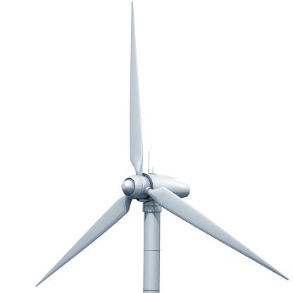 Heidelberg - Germany「Wind turbine on white background」:スマホ壁紙(6)