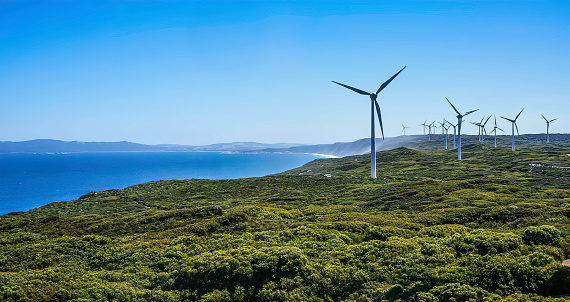 Power Equipment「Wind turbines on a Wind Farm, Albany, Western Australia, Australia」:スマホ壁紙(6)