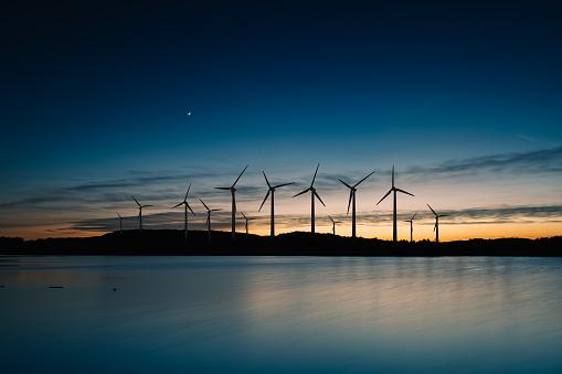 Power Equipment「Wind turbines landscape sunset」:スマホ壁紙(12)
