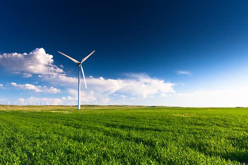 Agricultural Field「Wind Turbine」:スマホ壁紙(5)