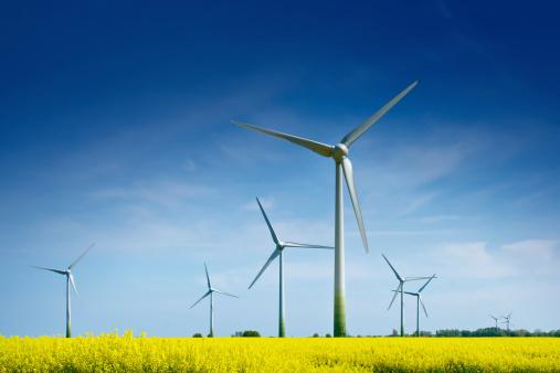 Wind Turbine「Wind Turbines in a Rape Field」:スマホ壁紙(13)