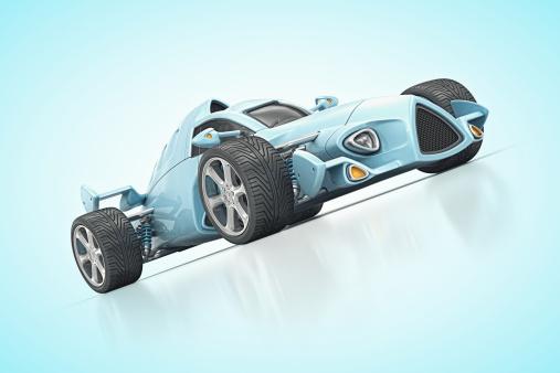 Hot Rod Car「blue racecar」:スマホ壁紙(10)