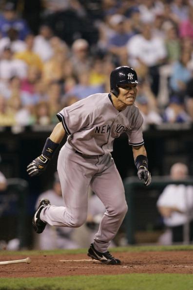 Hideki Matsui「New York Yankees vs Kansas City Royals - May 31, 2005」:写真・画像(5)[壁紙.com]