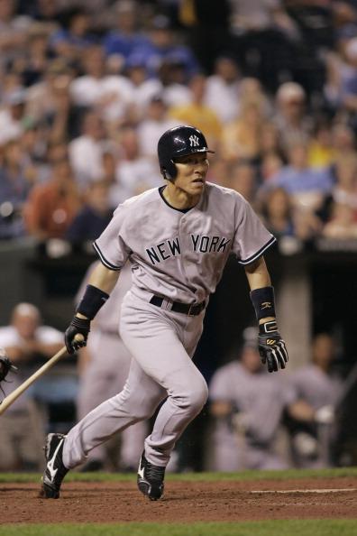 Hideki Matsui「New York Yankees vs Kansas City Royals - May 31, 2005」:写真・画像(6)[壁紙.com]