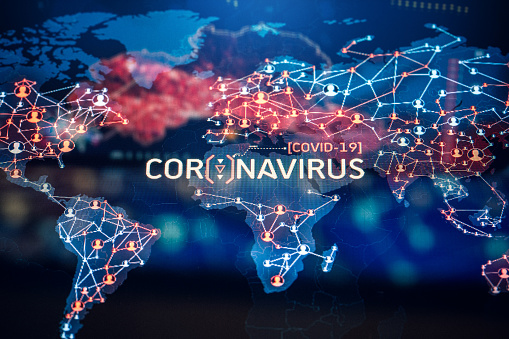 Big Data「Coronavirus Outbreak on a World Map」:スマホ壁紙(7)