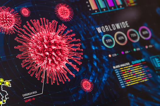 Poisonous「Coronavirus Charts and Graphs On Digital Display」:スマホ壁紙(13)