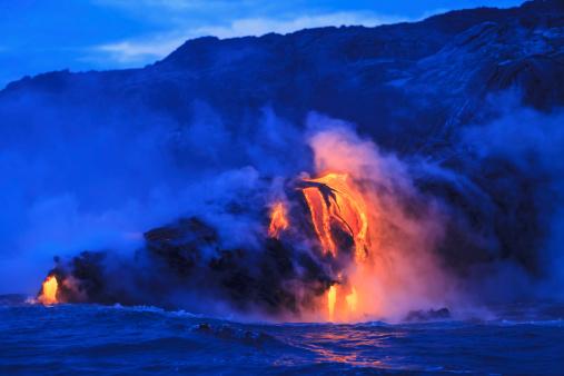 Active Volcano「ocean front lava」:スマホ壁紙(3)