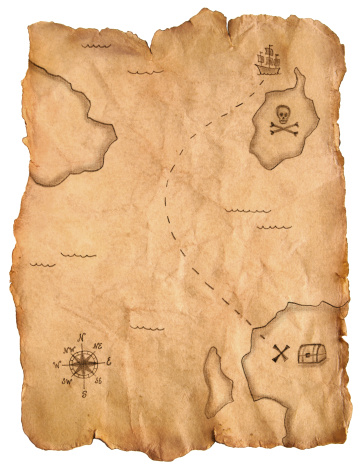 Parchment「Pirate treasure map」:スマホ壁紙(13)