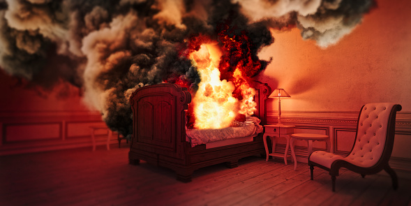 Digital Composite「Smoke from burning bed」:スマホ壁紙(14)