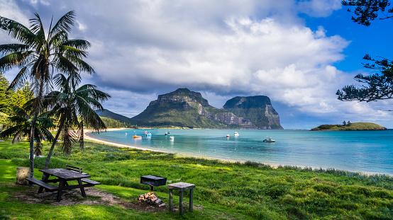ゴア山「Lord Howe Island Lagoon」:スマホ壁紙(4)