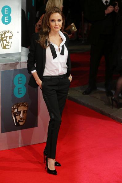 アンジェリーナ・ジョリー「EE British Academy Film Awards 2014 - Red Carpet Arrivals」:写真・画像(7)[壁紙.com]