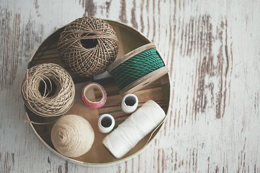 Sewing「Various decorative ropes - knolling」:スマホ壁紙(19)