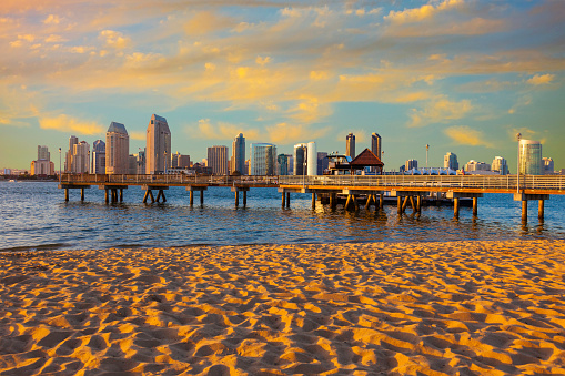 Pier「City Skyline Of San Diego, California」:スマホ壁紙(10)