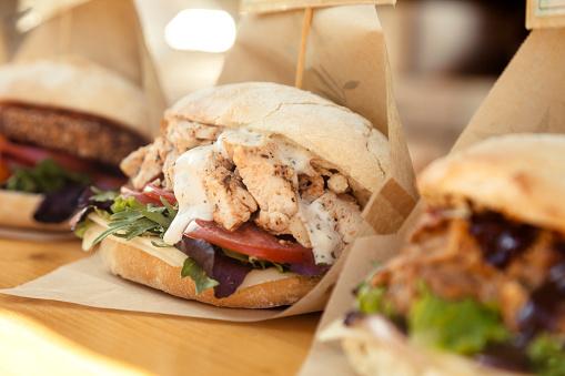 Take Out Food「Chicken sandwich,food truck」:スマホ壁紙(13)