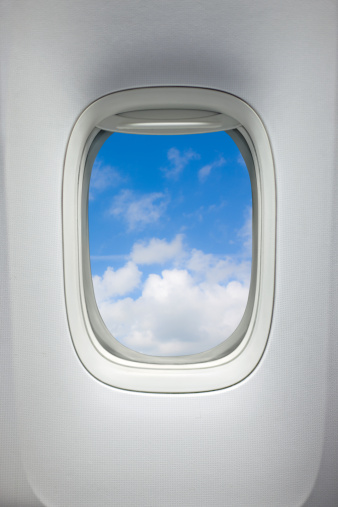 Passenger Cabin「Airplane window (Clipping Path)」:スマホ壁紙(15)