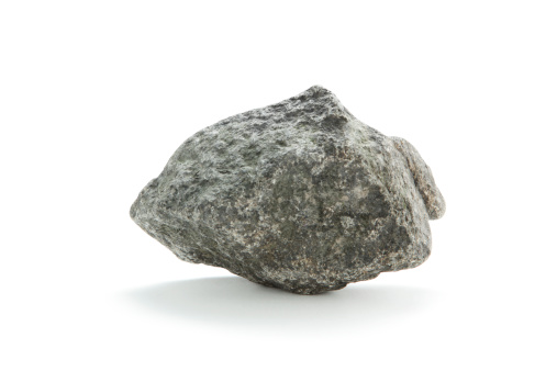 Stone - Object「Isolated basalt rock on white」:スマホ壁紙(17)