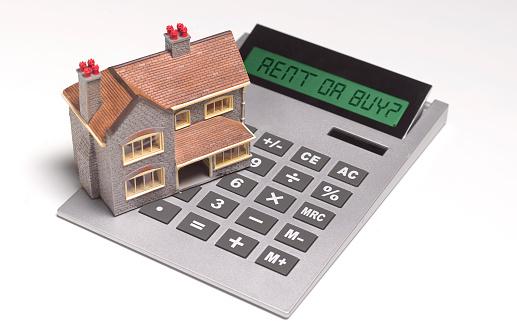Insurance「Model house on calculator」:スマホ壁紙(1)