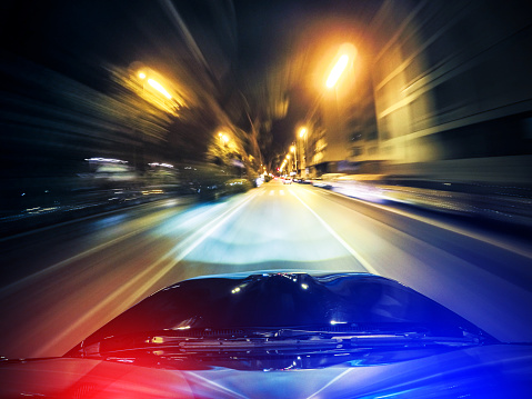 Light Trail「police chasing on the city」:スマホ壁紙(1)
