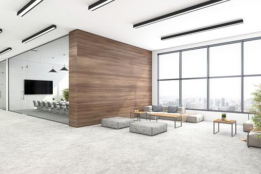 Corporate Business「Modern open plan office interior」:スマホ壁紙(12)