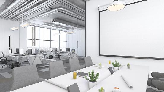 Projection Screen「Modern open plan office interior」:スマホ壁紙(6)