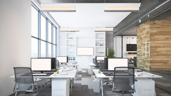 Desktop PC「Modern open plan office interior」:スマホ壁紙(17)