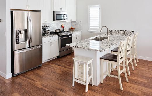 Bar Counter「Modern Open Concept Home Interior」:スマホ壁紙(5)