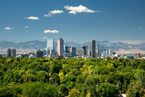 Downtown District「Skyline, Neighborhoods, Front Range, Rocky Mountains, Denver, Colorado」:スマホ壁紙(14)