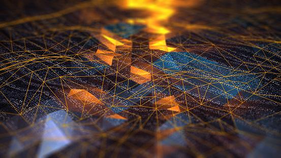 Map「Abstract Digital network communication」:スマホ壁紙(14)